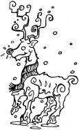 Crafty Stamps - Medium Reindeer - XM123HF