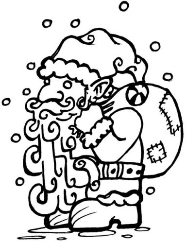 Crafty Stamps - Medium Santa - XM124HF