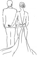 Crafty Stamps - Wedding couple (large) - WD101KI