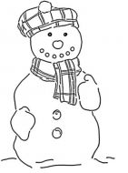 Crafty Stamps -  tartan snowman- XM108M