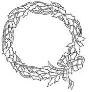 Crafty Stamps - tartan wreath - XM109KI