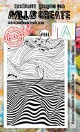 Crashing Waves No. 444 Aall and Create A6 sized stamp by Bipasha BK (AAL00444)
