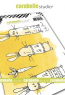 Crazy Bunnies by Kate Crane for Carabelle Studio (SA60522) - Cling Stamp A6