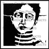 Create Face Stencil (S646) designed by Pam Carriker for StencilGirl (6 inch by 6 inch)