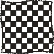 "Distressed Checkers 6"" x 6"" Mask - That Special Touch"