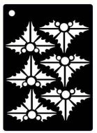 Contemporary Holly Mini Stencil - Creative Expressions