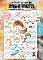 Crush on Crescents no. 120 A4 stencil by Autour de Mwa for Aall and Create (AAL10120)