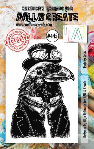 Dashing Crow No. 445 Aall and Create A7 sized stamp by Olga Heldwein (AAL00445)