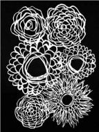 Deconstructed Floral Bouquet Stencil designed by Traci Bautista for Stencil Girl (9 inch by 12 inch)