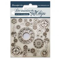 Decorative chips 14 x 14 cm Clock and corners Stamperia (SCB37)