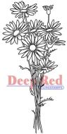 Daisy Bouquet - Deep Red Cling Stamp