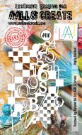 Digits Checked (No. 110) A6 sized stencil by Bipasha BK for Aall and Create (AAL10110)