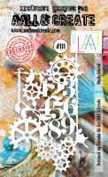 Digits Geared (No. 111) A6 sized stencil by Bipasha BK for Aall and Create (AAL10111)