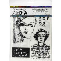 """Vintage and Sketches Dina Wakley Media Collage Tissue Paper 7.5""""X10"""" (MDA68181) 20/Pkg"""