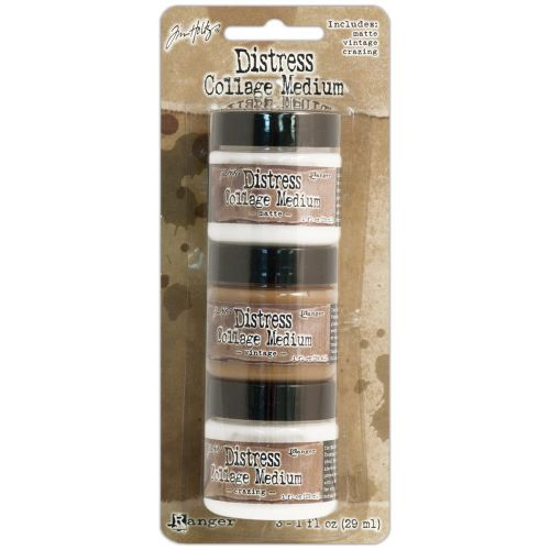 Distress Mini Medium 3 Pack (1 ounce: Vintage, Matte and Crazing)