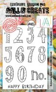 Doodled Numbers (No. 405) A6 sized stamp by Janet Klein for Aall and Create (AAL00405)