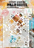 Dote on Diamonds no. 119 A4 stencil by Autour de Mwa for Aall and Create (AAL10119)