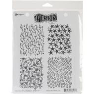 Dylusion Cling Rubber Stamps - Christmas Backgrounds
