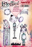PaperArtsy - Darcy EDY21 A5 Cling Rubber Stamp Set