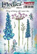 PaperArtsy - Kay Carley EKC06 A5 Cling Rubber Stamp Set