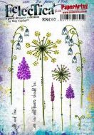 PaperArtsy - Kay Carley EKC07 A5 Cling Rubber Stamp Set