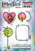 PaperArtsy Kim Dellow EKD04 A5 Rubber Stamps