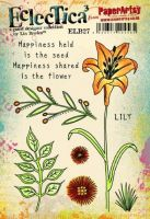 PaperArtsy Lin Brown 27 A5 Rubber Stamps