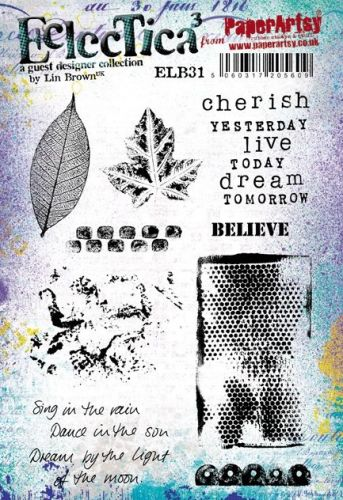 Eclectica Lin Brown 31 A5 Stamp Set (ELB31) PaperArtsy