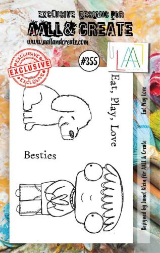 No. 355 Eat Play Love Aall and Create A7 Stamp