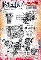 Eclectica Courtney Franich ECF07 PaperArtsy A5 Cling stamp set