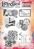 Eclectica Courtney Franich ECF08 PaperArtsy A5 Cling stamp set