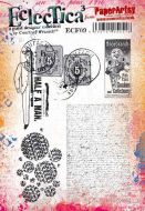 Eclectica Courtney Franich ECF09 PaperArtsy A5 Cling stamp set