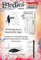 Eclectica Sara Naumann ESN36 PaperArtsy A5 Cling stamp set