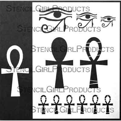 Egyptian Ankh by Carolyn Dube for StencilGirl