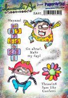 Zinski Art Elena Guzinska (ZA62) A5 PaperArtsy Cling Rubber Stamp Set