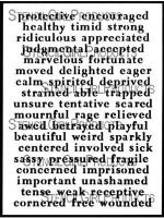 Emotions and Feelings 3 (L829) by Carolyn Dube for StencilGirl
