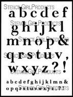 Emotions and Feelings Alphabet (L830) by Carolyn Dube for StencilGirl