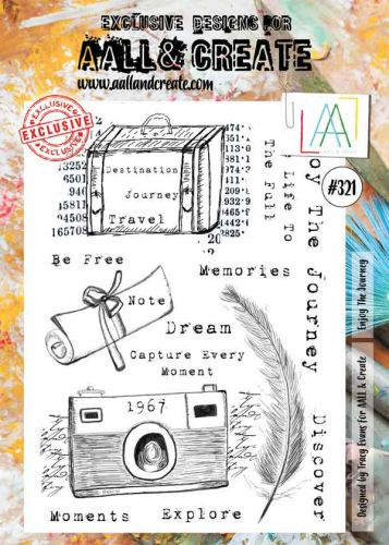 No. 321 Enjoy the Journey Aall and Create A4 Stamp