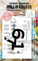 Ephemera Digits No. 438 Aall and Create A7 sized stamp by Tracy Evans (AAL00438)