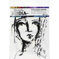 "Faces Dina Wakley Media Collage Tissue Paper 7.5""X10"" (MDA63827) 20/Pkg"