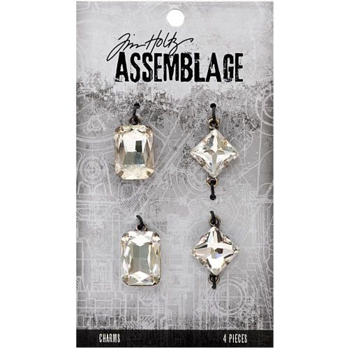 Faceted Gems Tim Holtz Assemblage Charms 4/Pkg (THA20029)