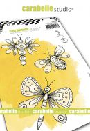 PRE-ORDER EXPECTED APPROX 8 MARCH Fantasy Bugs by Kate Crane for Carabelle Studio (SA60523) - Cling Stamp A6