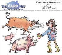 Farmer's Dilemma a6 clear stamp set from Card Hut