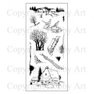 Farmhouse Scene it Hobby Art Clear Stamp Set (CS083D)