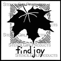 Find Joy Stencil (S617) designed by Roxanne Evans Stout for StencilGirl (6 inch by 6 inch)