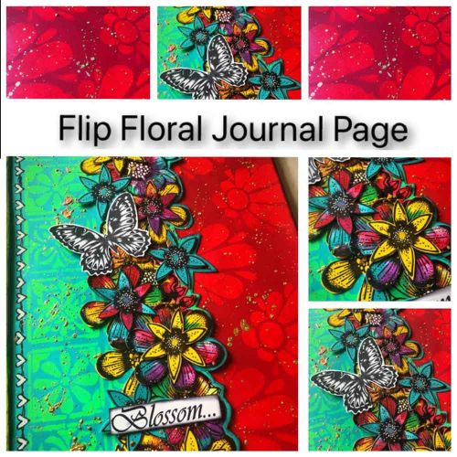 Tracy Scott Online Class Tuition Fee - 'Flip Floral Journal Page' 21st November 2020 (10am UK time)