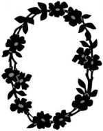 Flower Border Oval - Marianne Design Craftables Die - CR1215