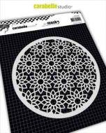 Flowers Pattern (MARO60008) Mask Round 6'' - Carabelle Studio