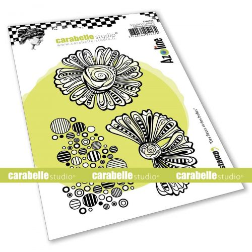 Flowers and Bubbles Cling Stamp A6 by Azoline for Carabelle Studio (SA60538)
