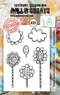 No. 301 Flowers and Sunshine Aall and Create A7 Stamp
